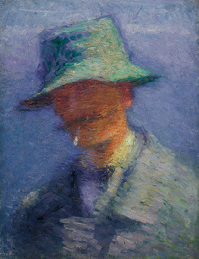 Henri Barbusse col cappello verde