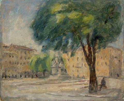 Scorcio di piazza Carlina a Torino