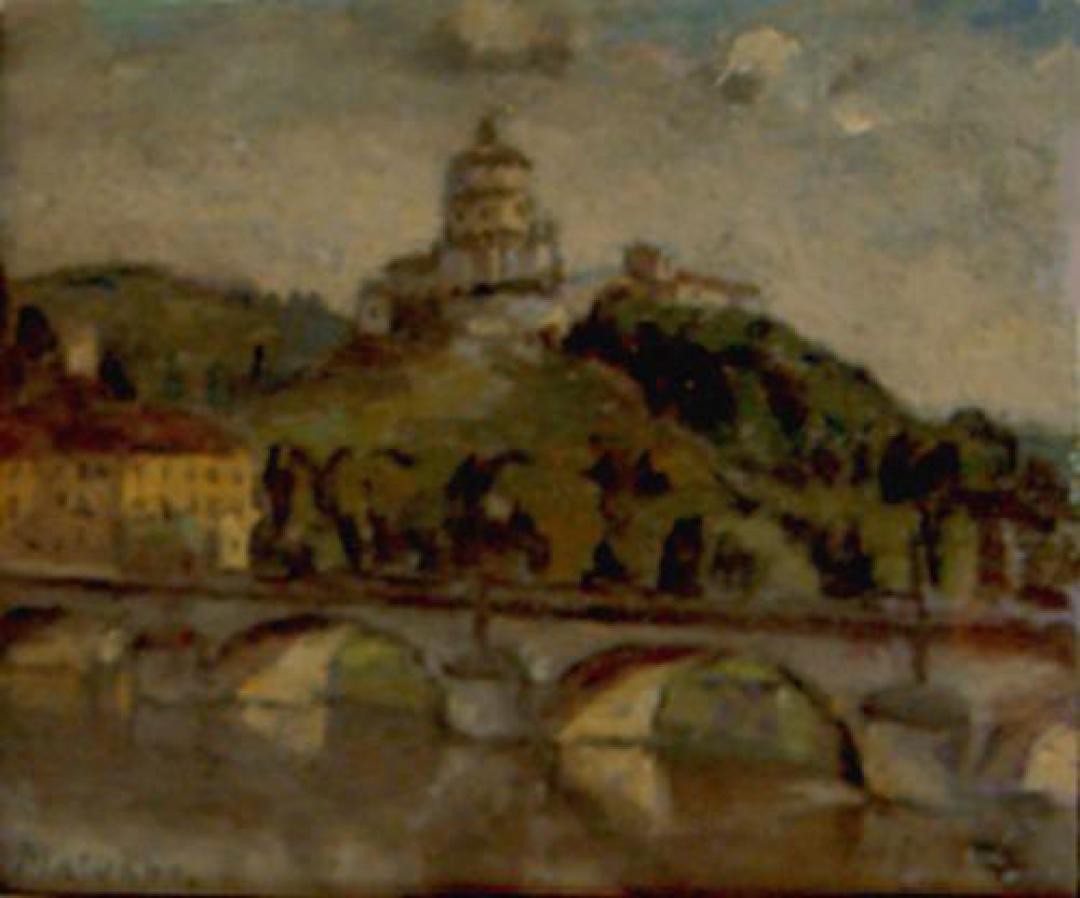 Ponte sul Po e Monte dei Cappuccini 1