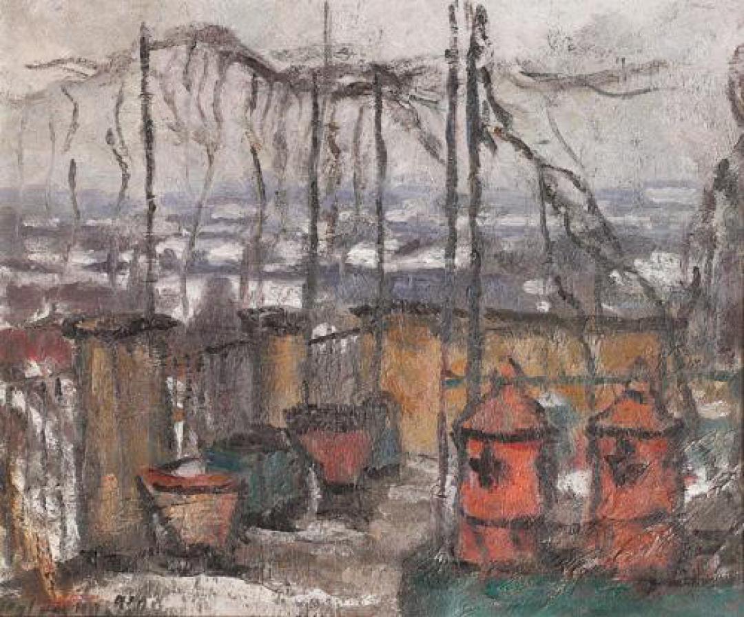 Inverno sulla terrazza (Terrazzo dello studio d'inverno)