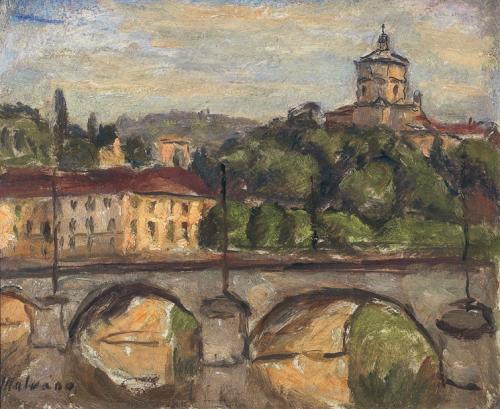 Ponte sul Po e Monte dei Cappuccini