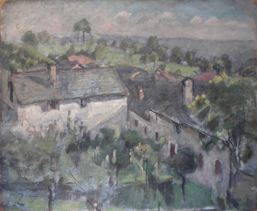 Case di Drusacco col Truc d'Castel sullo sfondo