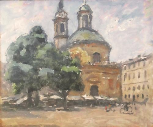 Piazza Carlina col mercato
