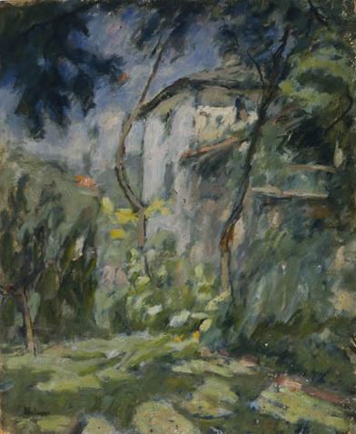 Casa rosa in campagna