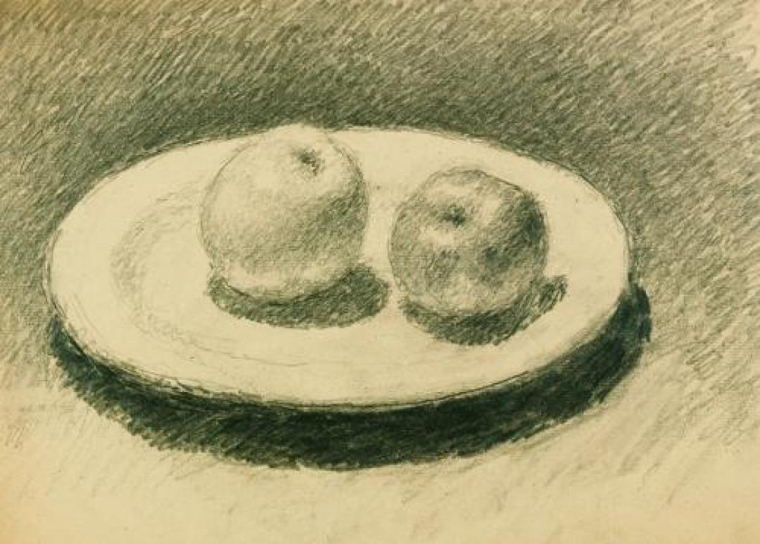 Piatto con due mele
