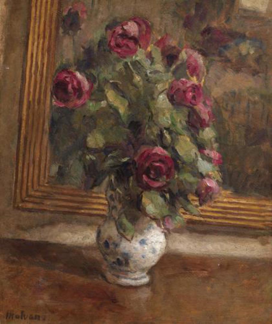 Rose rosse allo specchio