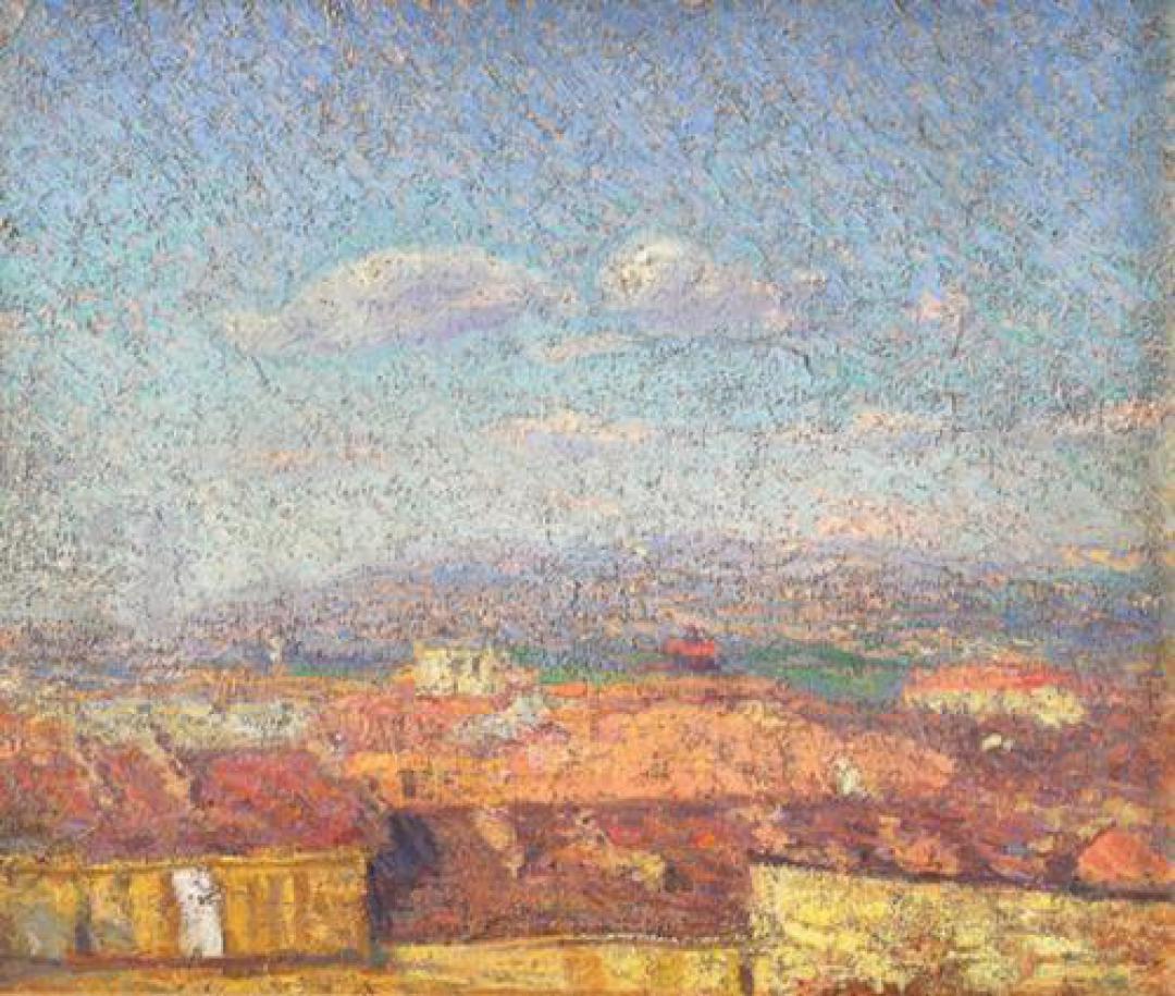 Città al Sole, impressione (Tetti e cielo a Torino, Città dall'alto)