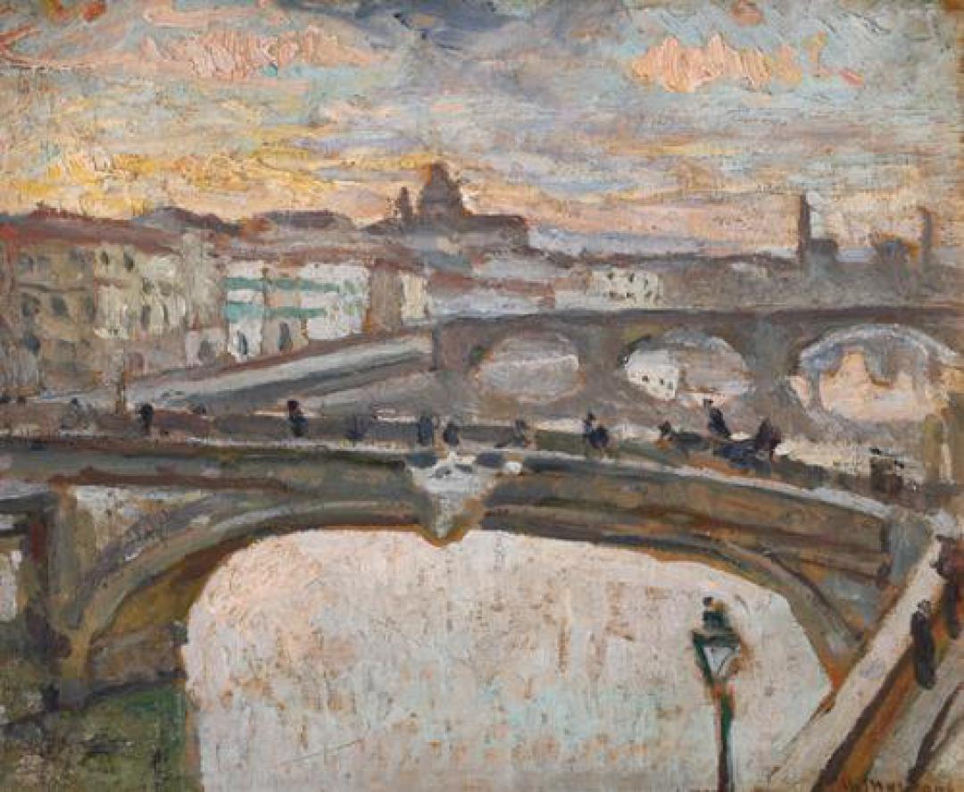 Lungo l' Arno a Firenze