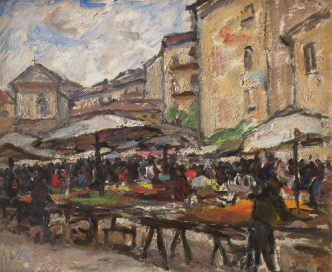 Il mercato della Crocetta a Torino