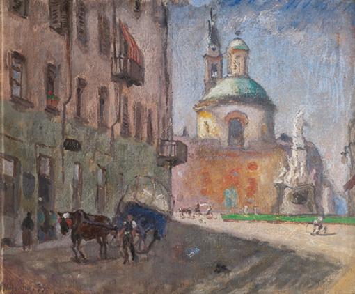 Piazza Carlina con la Chiesa di Santa Croce