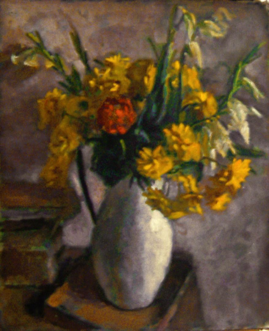 Natura morta con fiori gialli