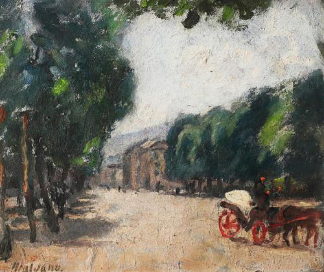 Viale di Torino con carrozza