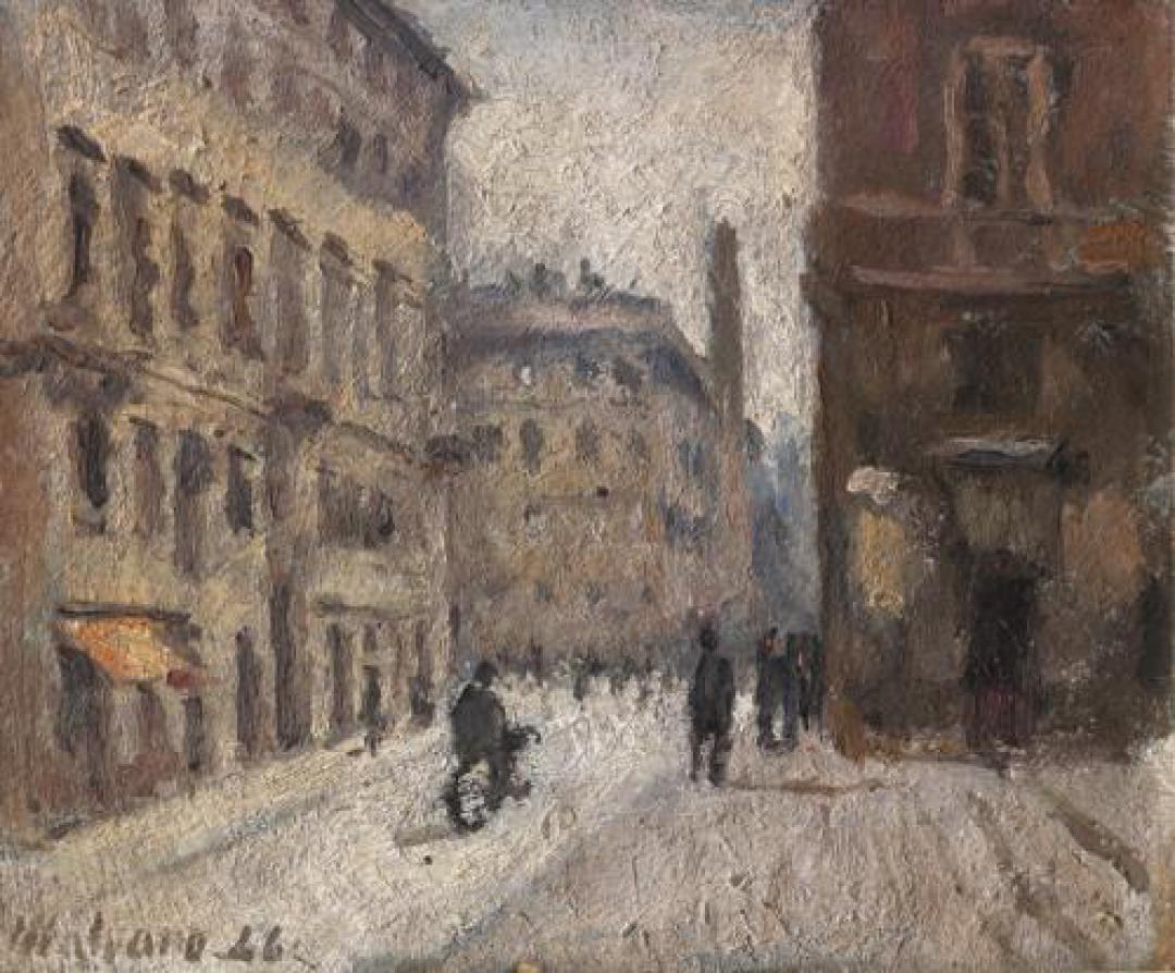 Via S.Chiara a Torino (Via del Carmine, Torino nei pressi di piazza Savoia)