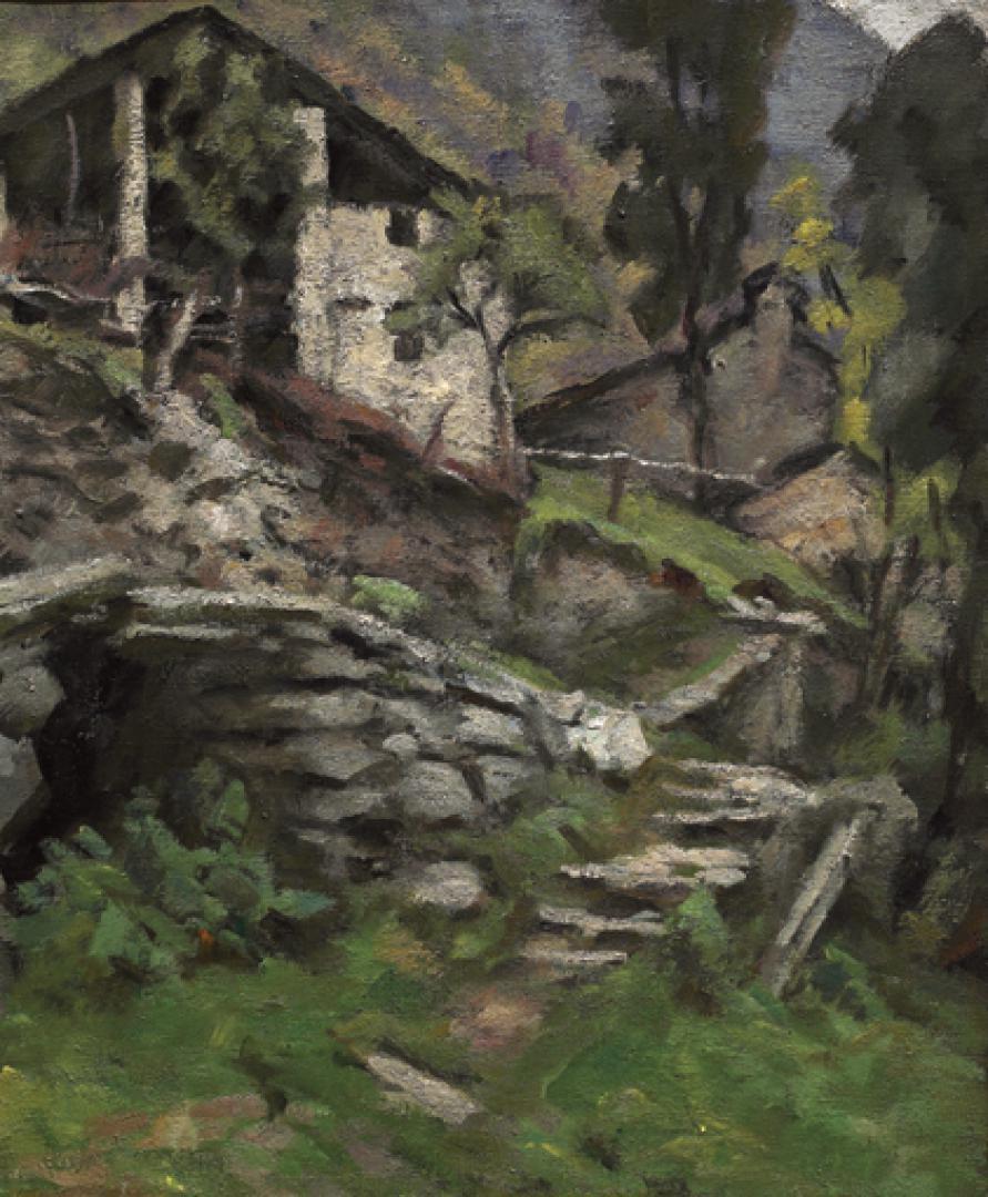 Sentiero in pietra e baite