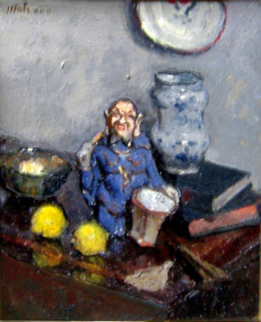 Composizione con Budda e due limoni