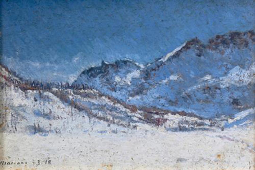 Monti innevati (Conca del Breuil)