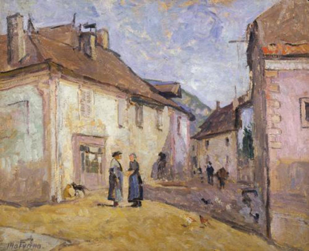 Une rue à Culoz (Ain)
