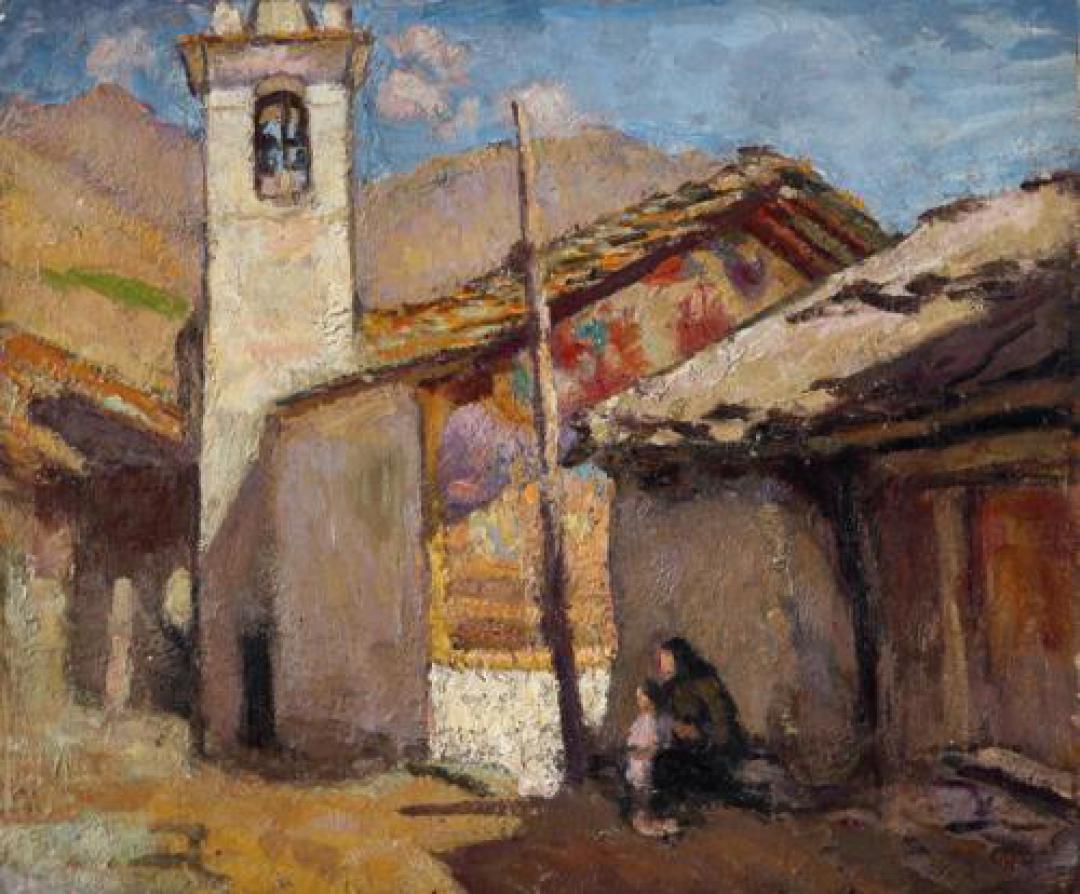 Chiesetta nel borgo alpino (Lignod, Val d'Ayas)