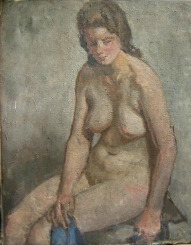 Ragazza seduta (nudo)