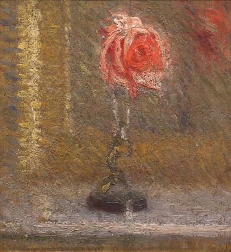 Rosa in un vasetto