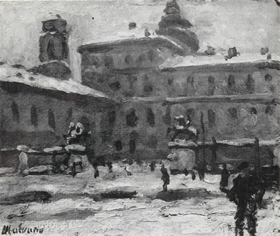 Piazza Castello sotto la neve
