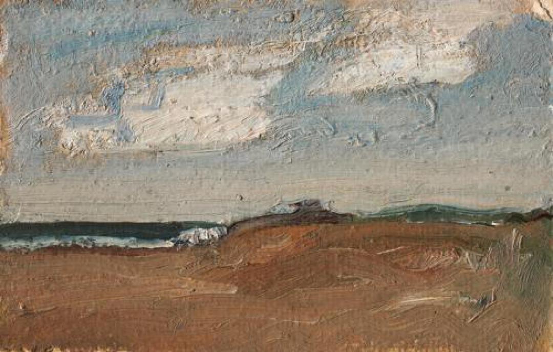 Marina con nuvole bianche e dune