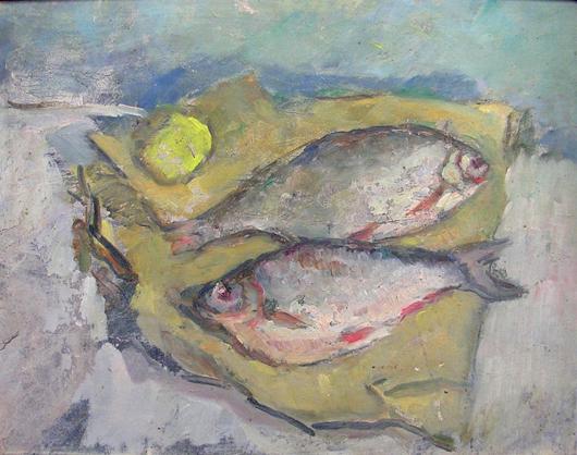 Natura morta di pesci