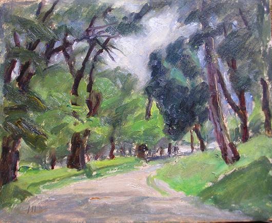 Strada nel parco