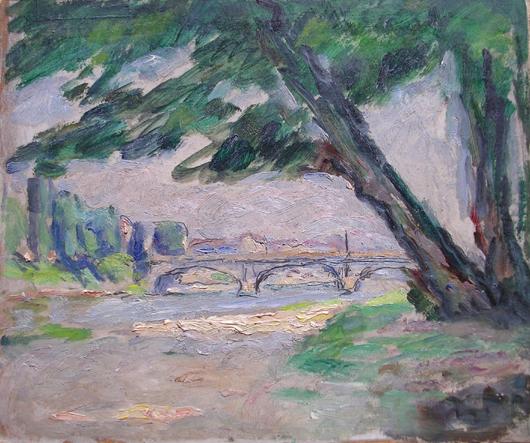 Albero in riva al Po