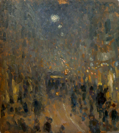 Strada cittadina di notte