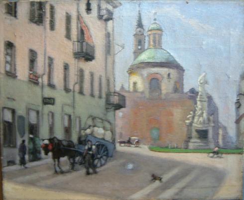 Piazza Carlina con la Chiesa di S. Croce