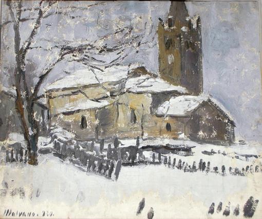 Chiesa sotto la neve