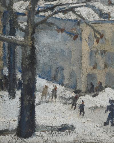 Angolo di Torino sotto la neve