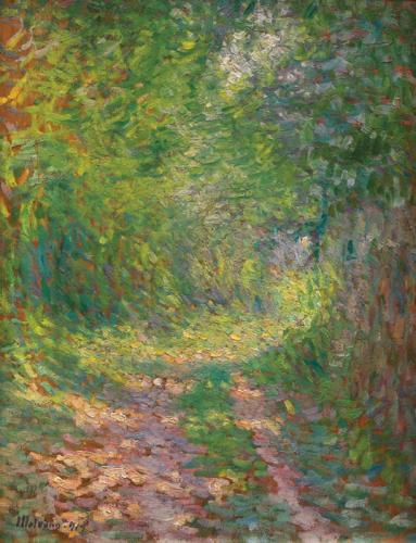 Sentier (Paesaggio alberato con sentiero)