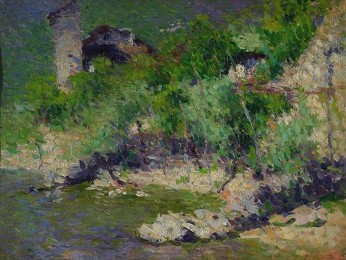 Alberi in riva al torrente