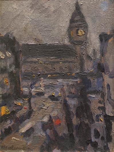 Veduta di Parigi di sera