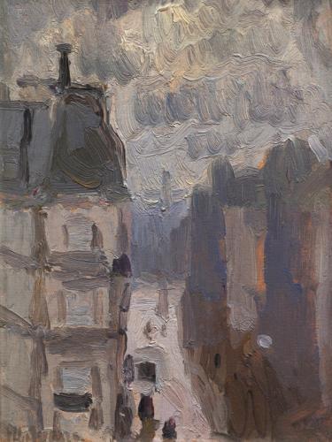 Strada parigina dall'alto
